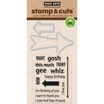 Hero Arts - Operation Write Home - Die and Clear Acrylic Stamp Set - Arrow Messages