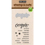 Hero Arts - Die and Clear Acrylic Stamp Set - Congrats