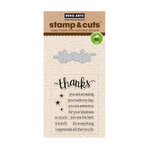 Hero Arts - Die and Clear Acrylic Stamp Set - Thanks