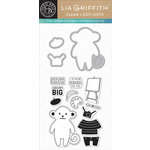 Hero Arts - Lia Griffith Collection - Die and Clear Acrylic Stamp Set - Pierre Cut-Outs