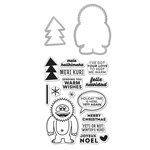 Hero Arts - Christmas - Kelly Purkey Collection - Die and Clear Acrylic Stamp Set - Yeti