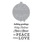 Hero Arts - Lia Griffith Collection - Christmas - Die and Clear Acrylic Stamp Set - Merry and Bright Tag