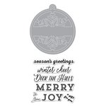 Hero Arts - Lia Griffith Collection - Christmas - Die and Clear Acrylic Stamp Set - Winter Cheer Tag