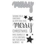 Hero Arts - Christmas - Die and Clear Acrylic Stamp Set - Merry