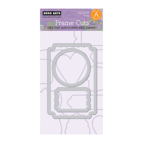 Hero Arts - Frame Cuts - Die Cutting Template - Ticket Frame A
