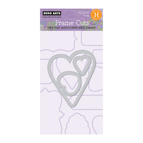 Hero Arts - Frame Cuts - Die Cutting Template - Heart Frame H