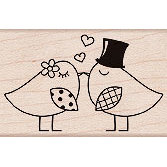 Hero Arts - Woodblock - Wood Mounted Stamps - Two Birds
