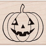 Hero Arts - Woodblock - Halloween - Wood Mounted Stamps - Country Pumpkin