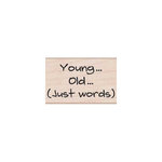 Hero Arts - Woodblock - Wood Mounted Stamps - Just Words