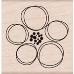 Hero Arts - Wood Block - Wood Mounted Stamp - Dauber Flower