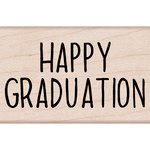Hero Arts - Woodblock - Wood Mounted Stamps - Happy Graduation Message