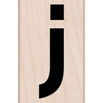 Hero Arts - Woodblock - Wood Mounted Stamps - Lowercase J