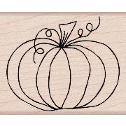 Hero Arts - Woodblock - Wood Mounted Stamps - Traditional Pumpkin