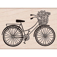 Hero Arts - Woodblock - Wood Mounted Stamps - Bicycle