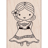 Hero Arts - Woodblock - Wood Mounted Stamps - Flamenco Dancer