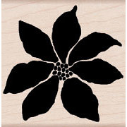 Hero Arts - Woodblock - Christmas - Wood Mounted Stamps - Poinsettia Bloom