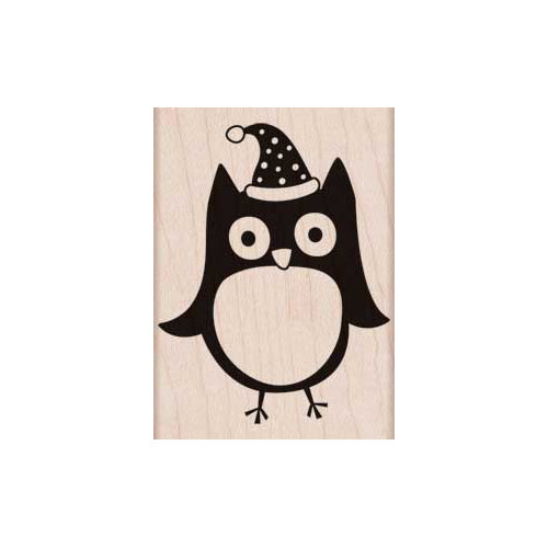 Hero Arts - Woodblock - Christmas - Wood Mounted Stamps - Christmas Owl