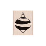 Hero Arts - Woodblock - Christmas - Wood Mounted Stamps - Striped Ornament