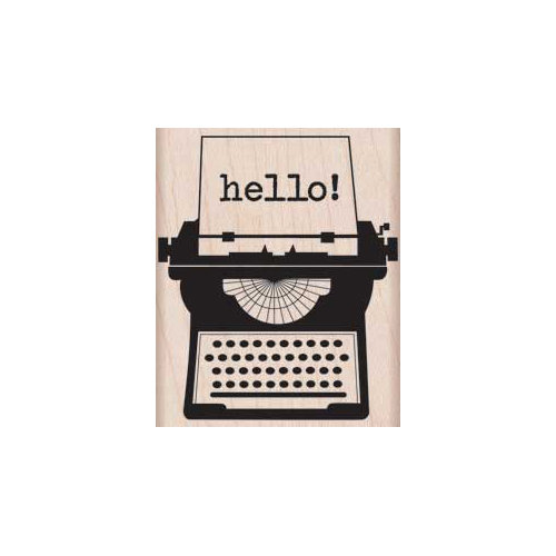 Hero Arts - Woodblock - Wood Mounted Stamps - Hello Typewriter