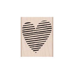 Hero Arts - Woodblock - Wood Mounted Stamps - Striped Heart