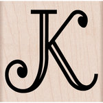 Hero Arts - Woodblock - Wood Mounted Stamps - Engraved K