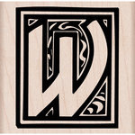 Hero Arts - Woodblock - Wood Mounted Stamps - Illuminated W