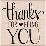 Hero Arts - Woodblock - Wood Mounted Stamps - Thanks for Being You