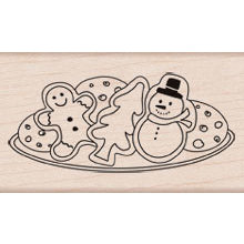 Hero Arts - Woodblock - Christmas - Wood Mounted Stamps - Christmas Cookies