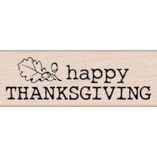 Hero Arts - Woodblock - Wood Mounted Stamps - Large Happy Thanksgiving