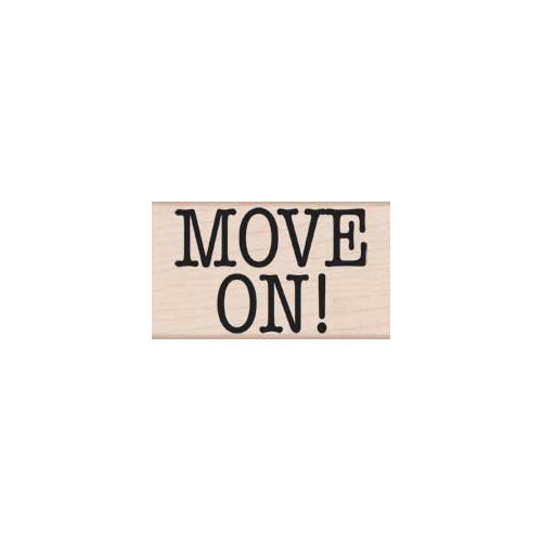 Hero Arts - Woodblock - Wood Mounted Stamps - Move On