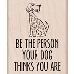Hero Arts - Wood Block - Wood Mounted Stamp - Your Dog Thinks