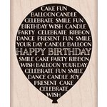 Hero Arts - Wood Block - Wood Mounted Stamp - Birthday Balloon