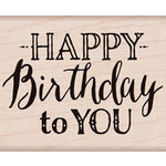 Hero Arts - Wood Block - Wood Mounted Stamp - Mixed Fonts Birthday