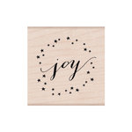 Hero Arts - Lia Griffith Collection - Woodblock - Christmas - Wood Mounted Stamps - Joy