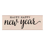 Hero Arts - Woodblock - Wood Mounted Stamps - Happy Happy New Year
