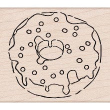 Hero Arts - Woodblock - Wood Mounted Stamps - Sprinkle Donut