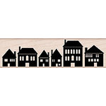 Hero Arts - Woodblock - Wood Mounted Stamps - Row of Houses
