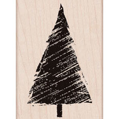 Hero Arts - Woodblock - Christmas - Wood Mounted Stamps - Wind Blown Tree