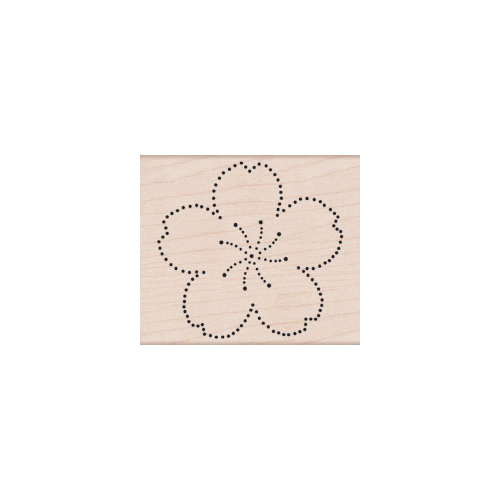 Hero Arts - Woodblock - Wood Mounted Stamps - Dot Flower