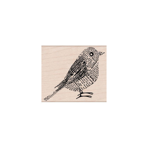 Hero Arts - Woodblock - Wood Mounted Stamps - Newsprint Bird