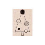 Hero Arts - Woodblock - Christmas - Wood Mounted Stamps - Tree with Circle