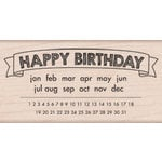 Hero Arts - Wood Block - Wood Mounted Stamp - Happy Birthday Calendar