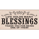 Hero Arts - Wood Block - Wood Mounted Stamp - Many Blessing