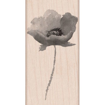 Hero Arts - Wood Block - Wood Mounted Stamp - Poppy