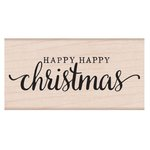 Hero Arts - Woodblock - Christmas - Wood Mounted Stamps - Happy Happy Christmas