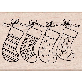 Hero Arts - Woodblock - Christmas - Wood Mounted Stamps - Christmas Stockings