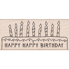 Hero Arts - Woodblock - Wood Mounted Stamps - Happy Happy Birthday