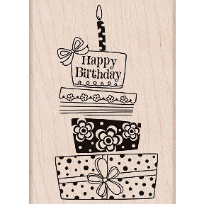 Hero Arts - Woodblock - Wood Mounted Stamps - Birthday Gift