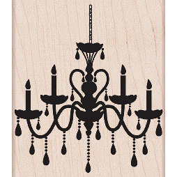 Hero Arts - Woodblock - Wood Mounted Stamps - Chandelier