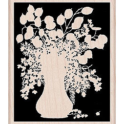 Hero Arts - Woodblock - Wood Mounted Stamps - Silhouette Vase